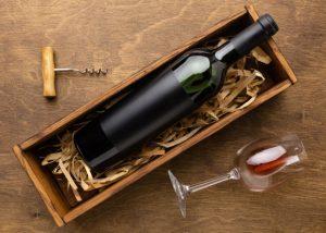 boite de vin rouge